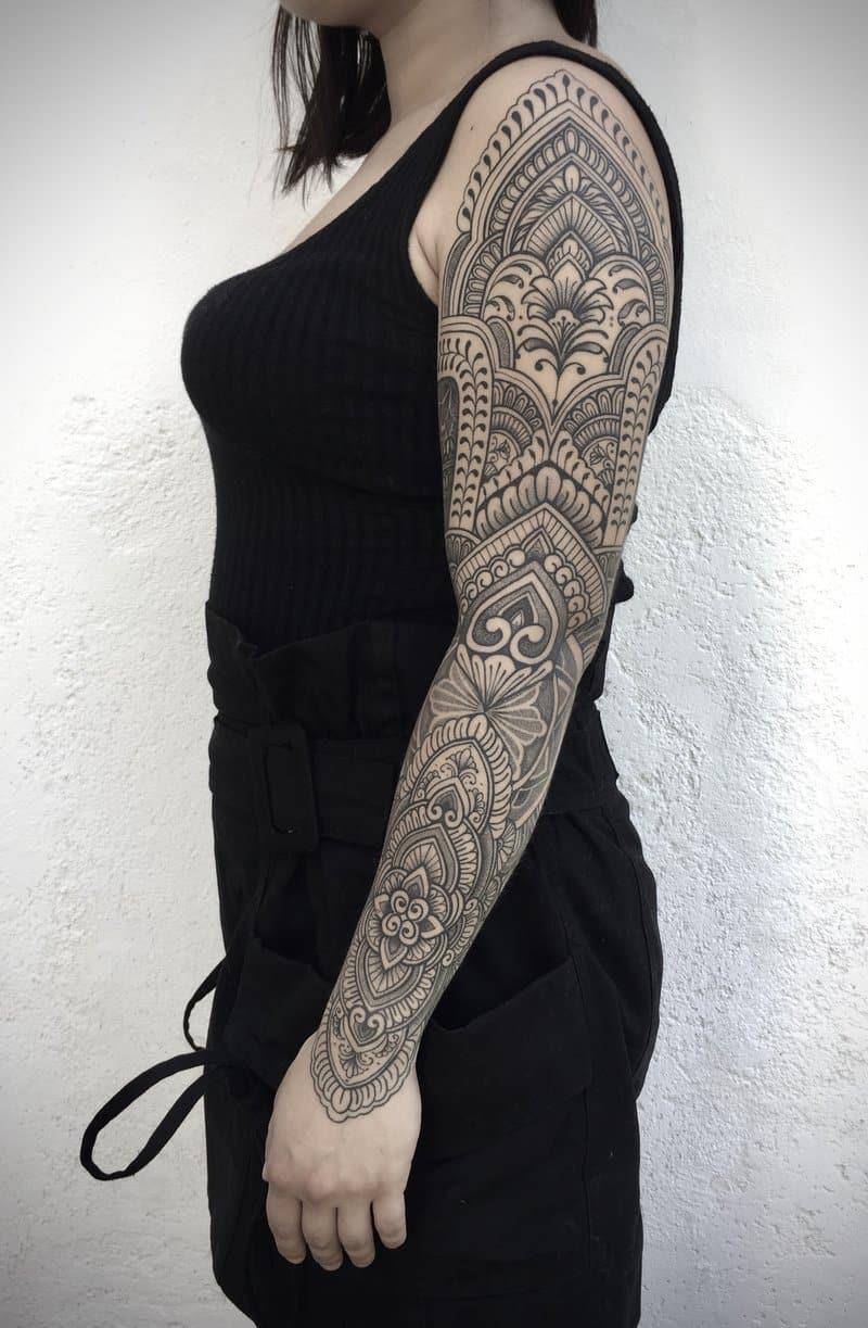 maddalena-tattoo-artist-arm-sleeve-ornamental