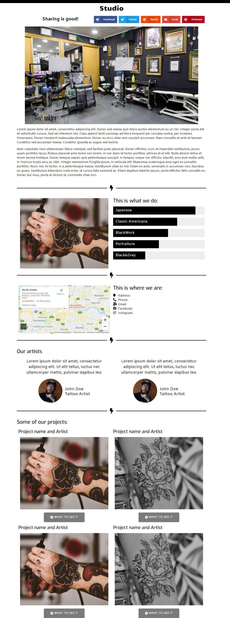 studio-page-web