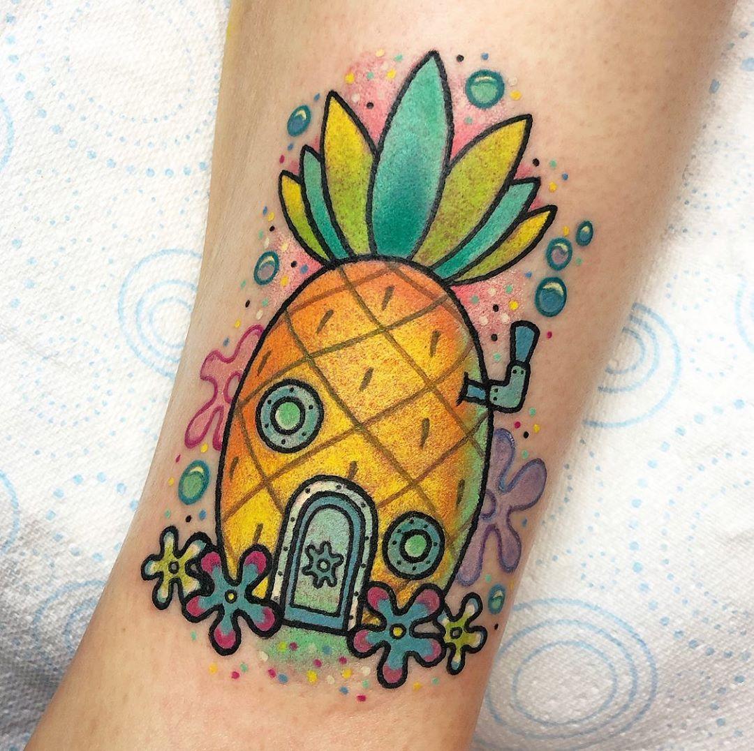 cartoon-tattoo-style-pineapple