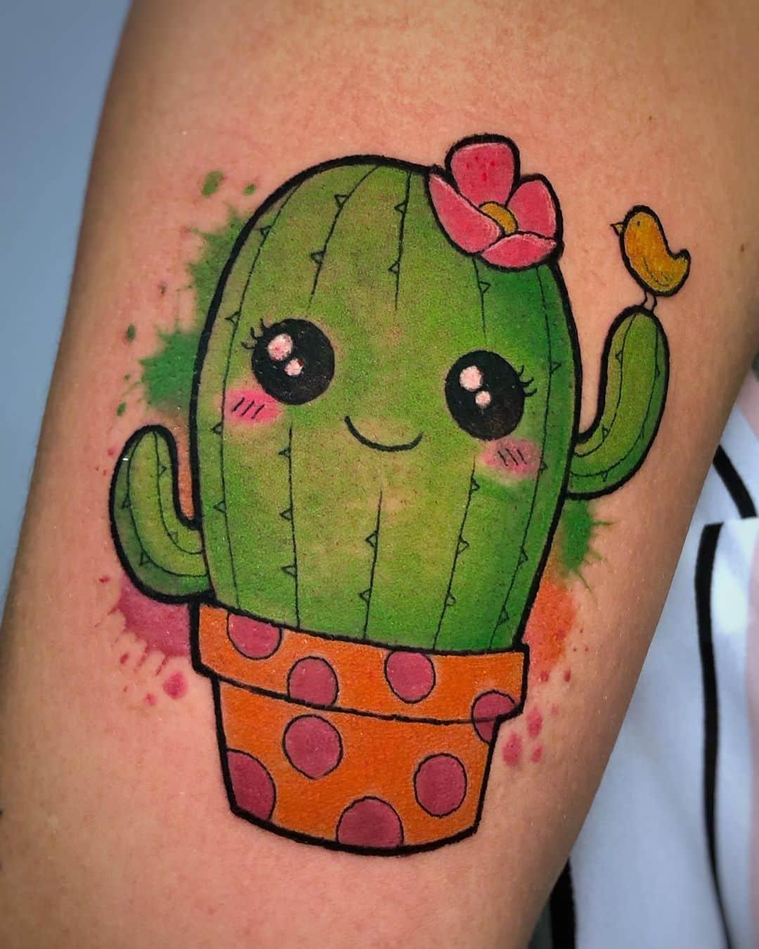 kawaii-tattoo-cactus