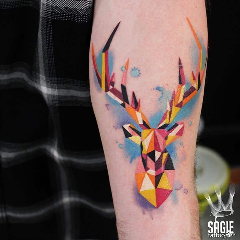 polygon-tattoo-style