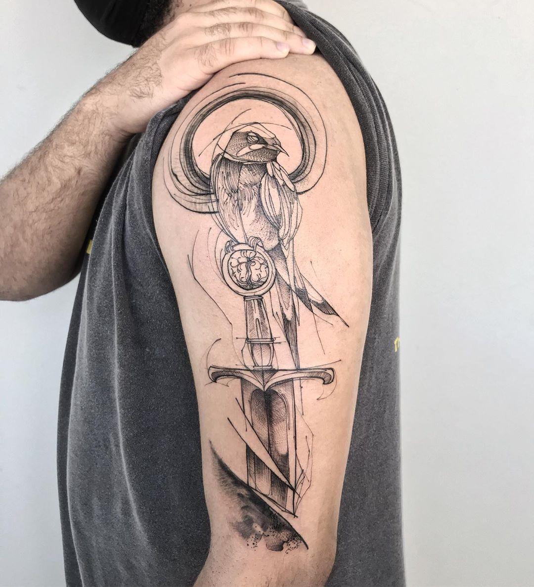 sketch-tattoo-style-bird