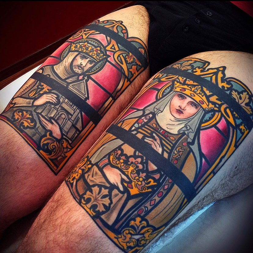 stained-glass-tattoo-style