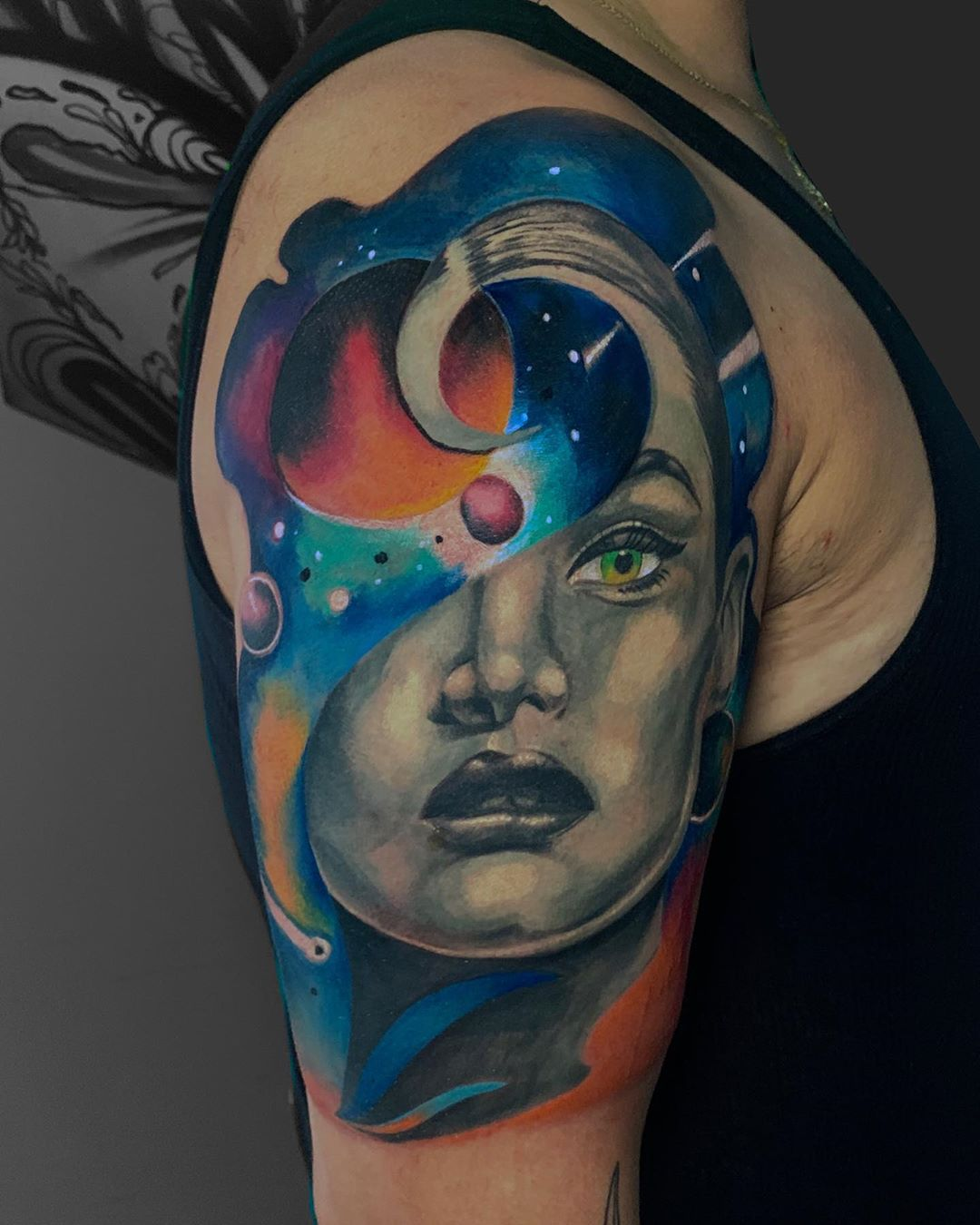 surrealism-tattoo-style-face