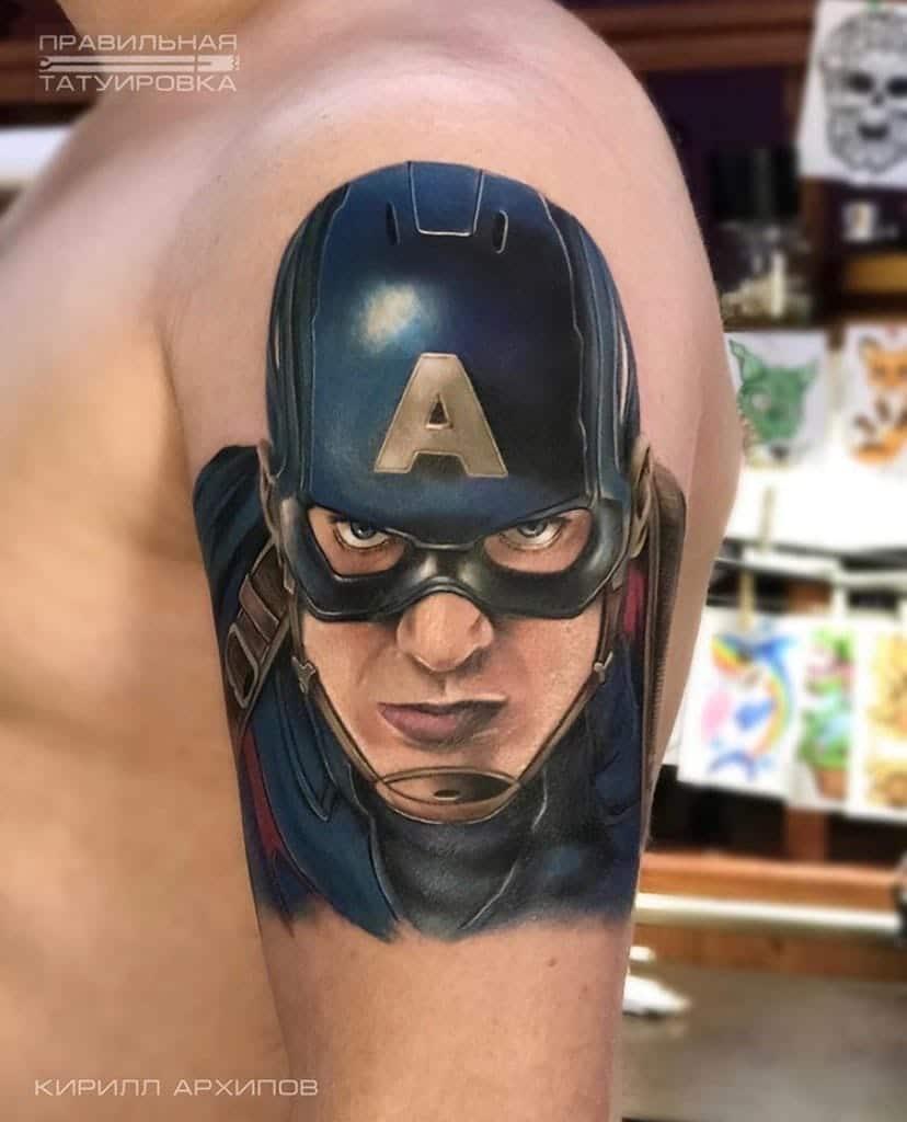 kirill-tattoo-artist-capitan-america