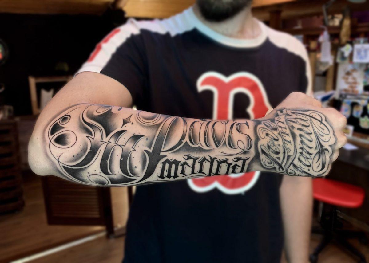 kirill-tattoo-artist-lettering-arm