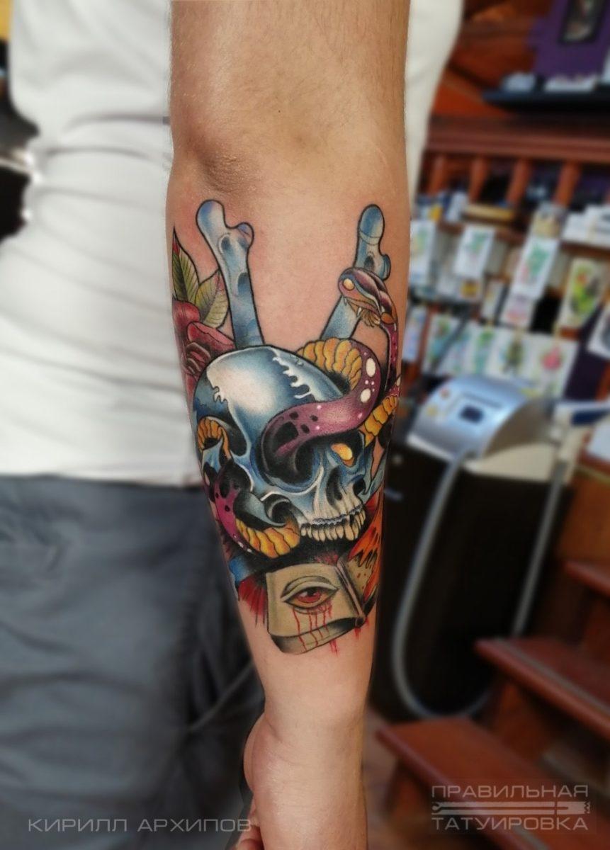 kirill-tattoo-artist-neo-trad-arm