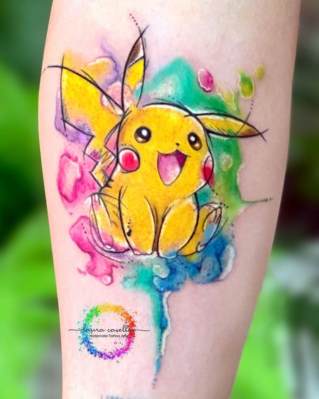 laura-caselles-watercolor-pikachu