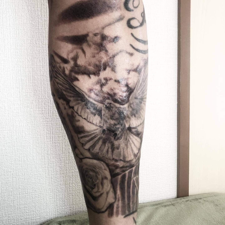 yukimaru-tattoo-leg-dove