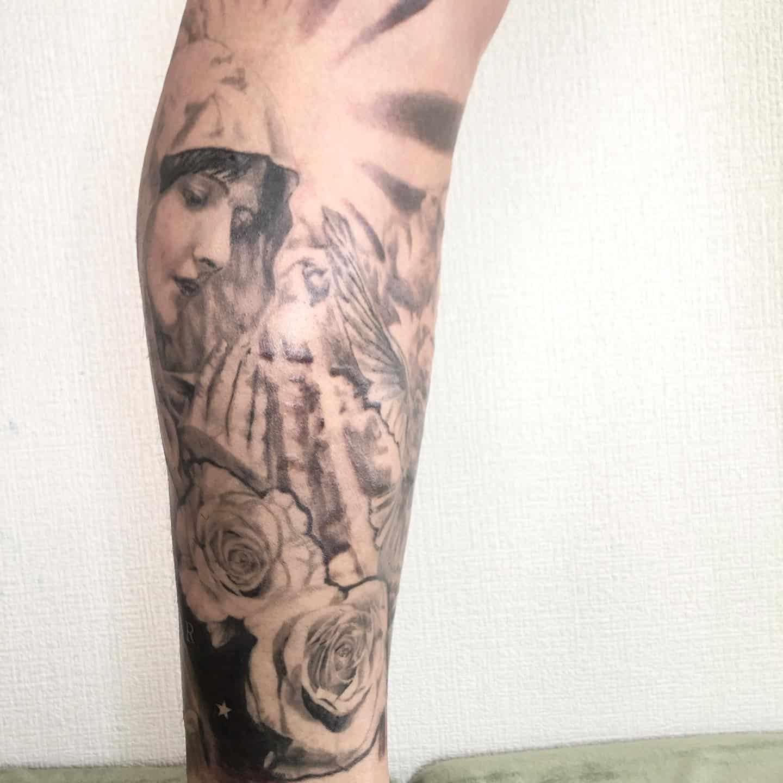 yukimaru-tattoo-leg-roses