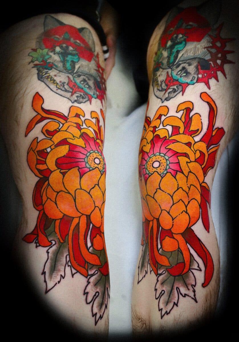 igor-puente-tattoo-artist-orange-flower