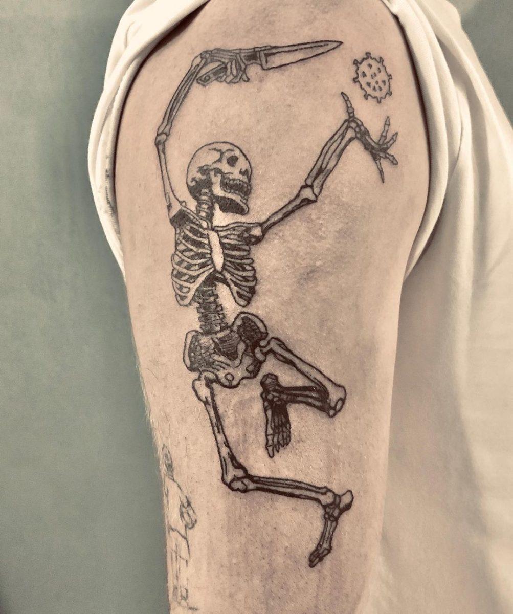 skeleton-covid19-tattoo