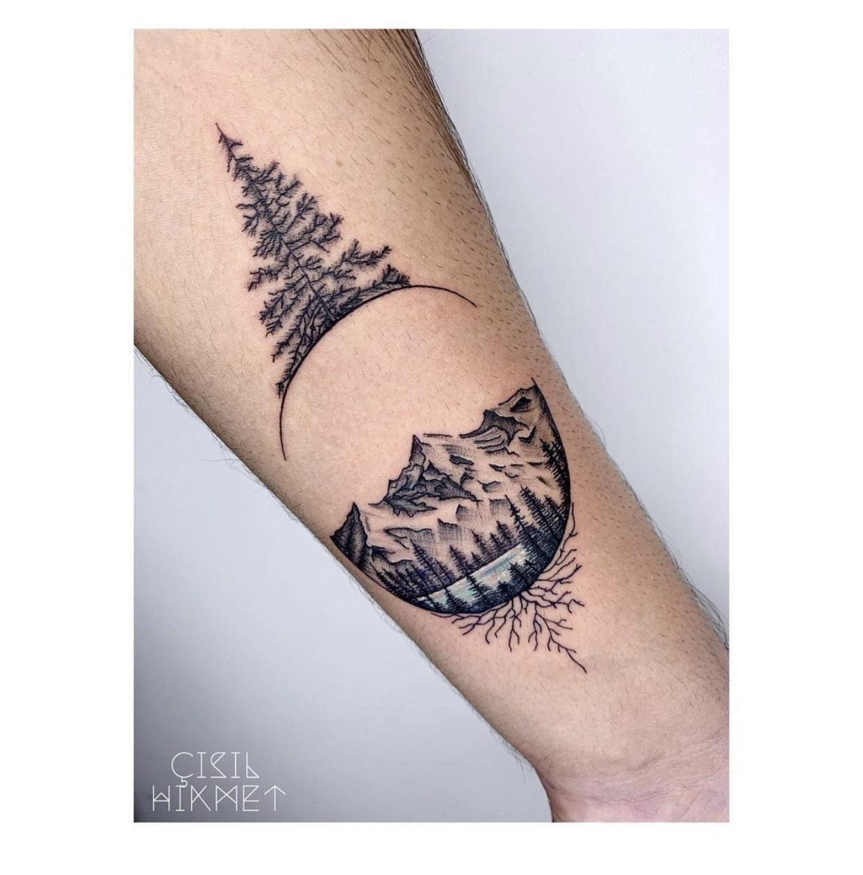 çisil-hikmet-tattoo-artist-mountains-lake