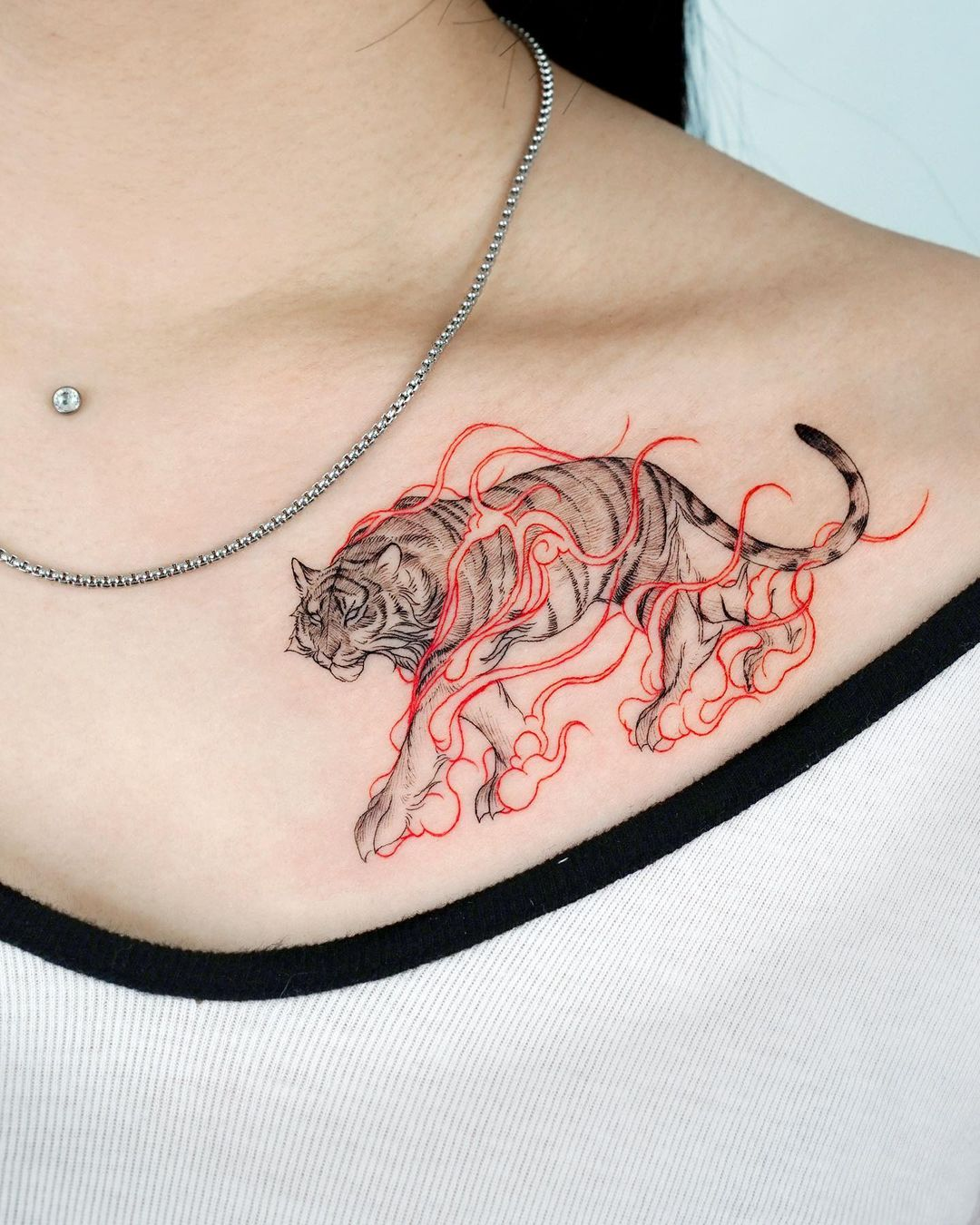 tattoo-ideas-for-women-tiger-color-realistic