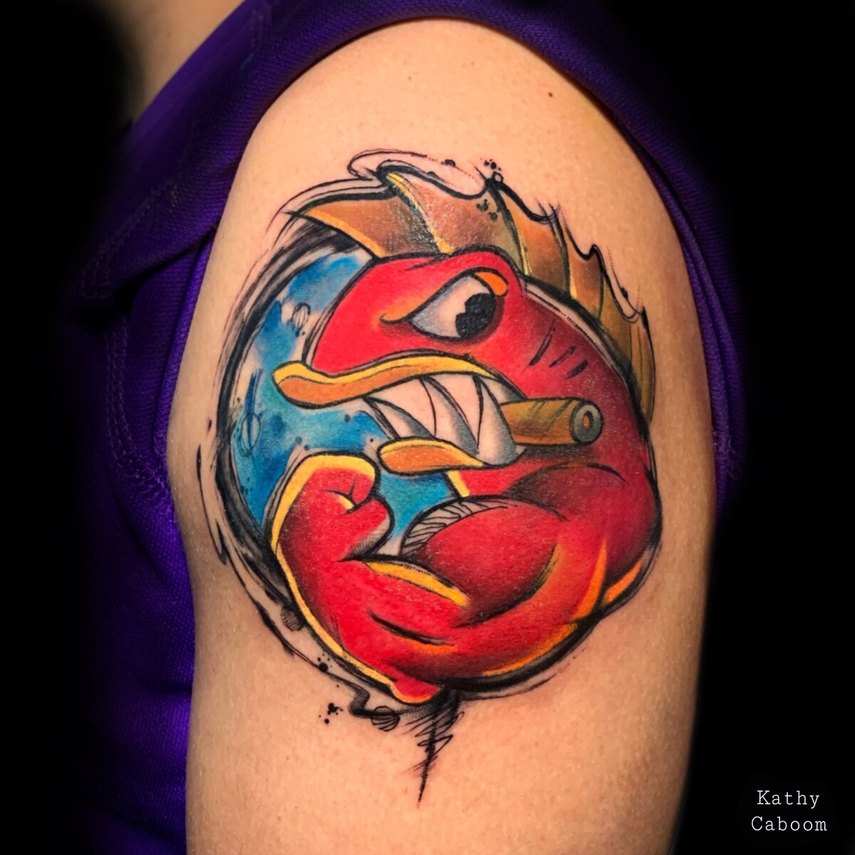 kathycaboom-tattoo-artist-red-fish