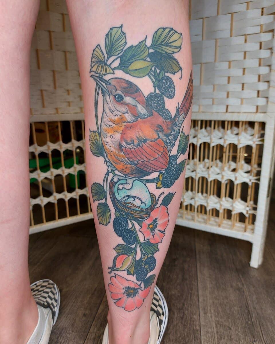 lucy o connell tattoo artist bird nest