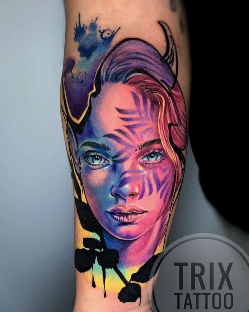 trix-tattoo-artist-new-school-color-portrait