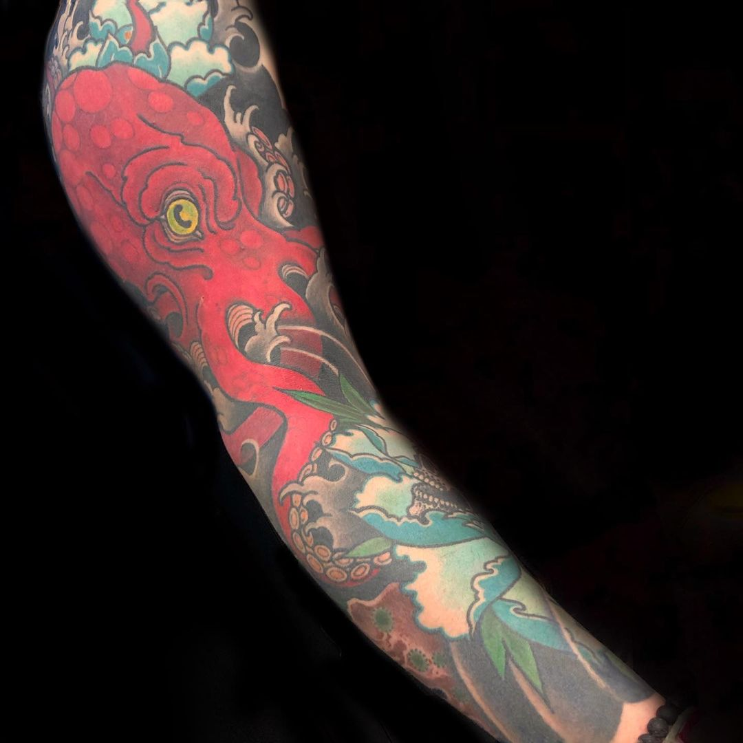 japanese-akkorokamui-tattoo-red