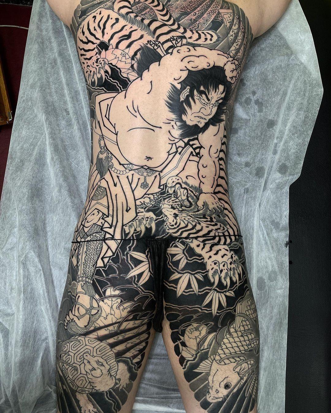 japanese-all-body-tattoo-samurai-black
