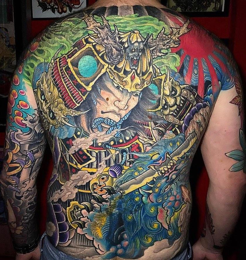 japanese-back-color-samurai-tattoo