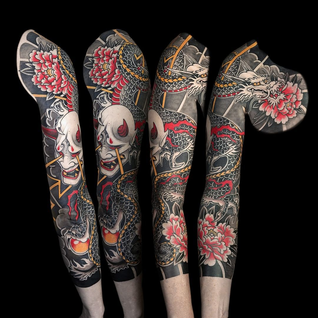 japanese-sleeve-demon-oni