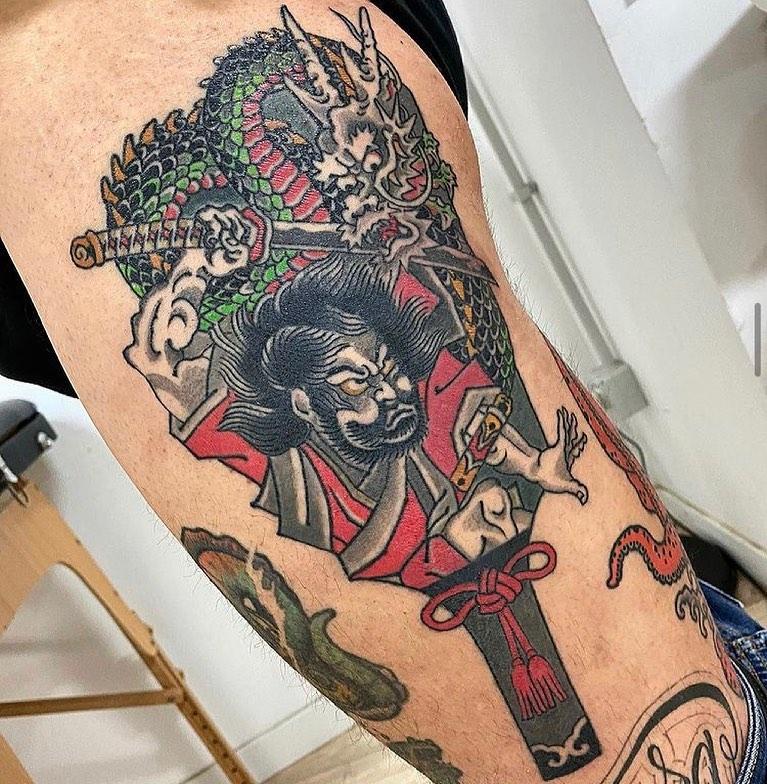 japanese small tattoo samurai
