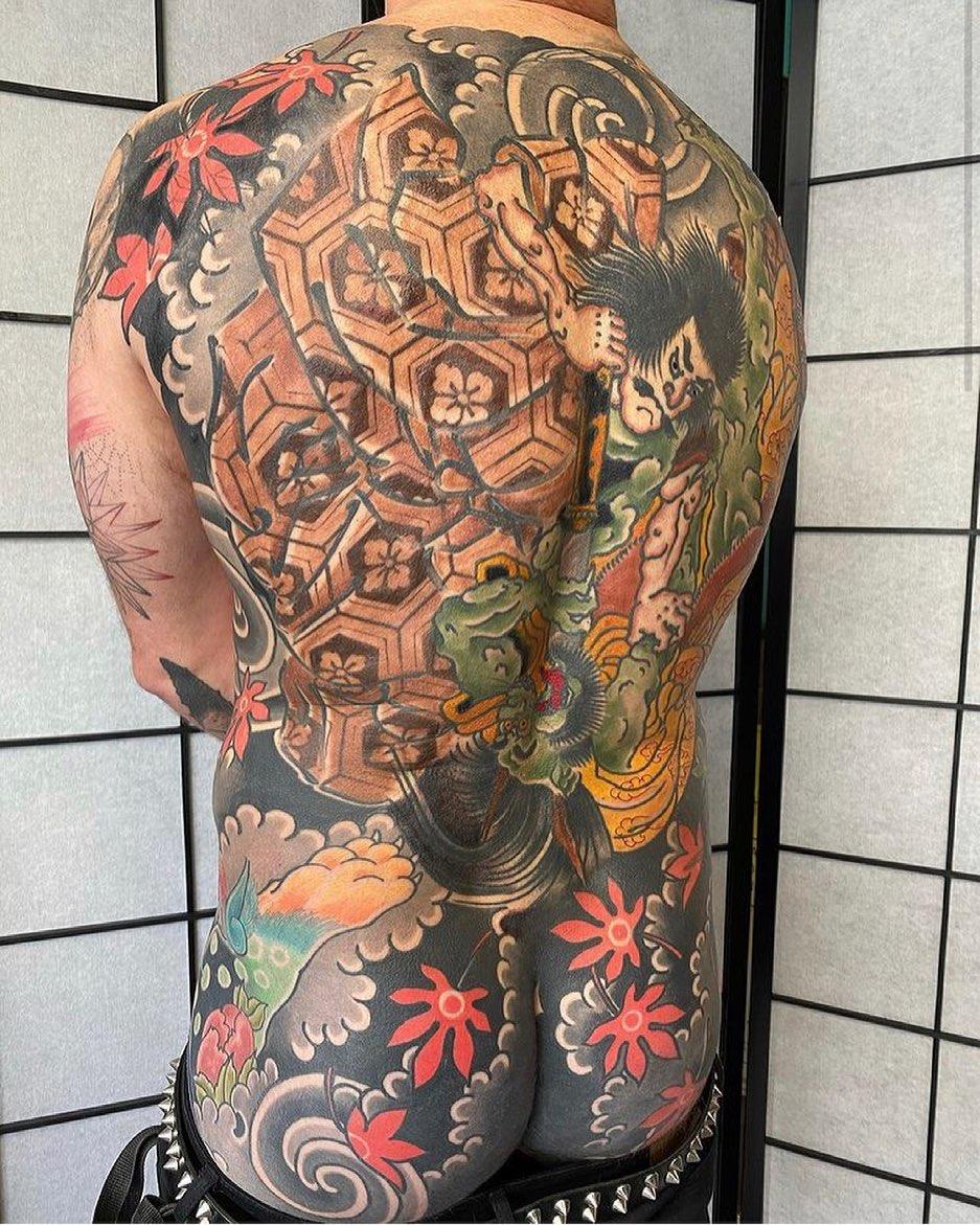 japanese tattoo back samurai