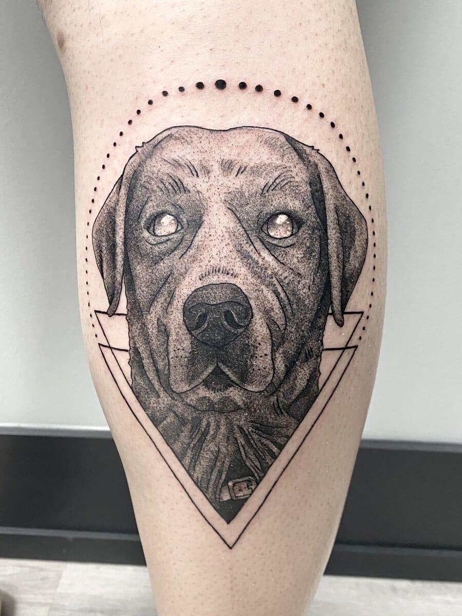 jordan smith tattoo artist dog black and grey