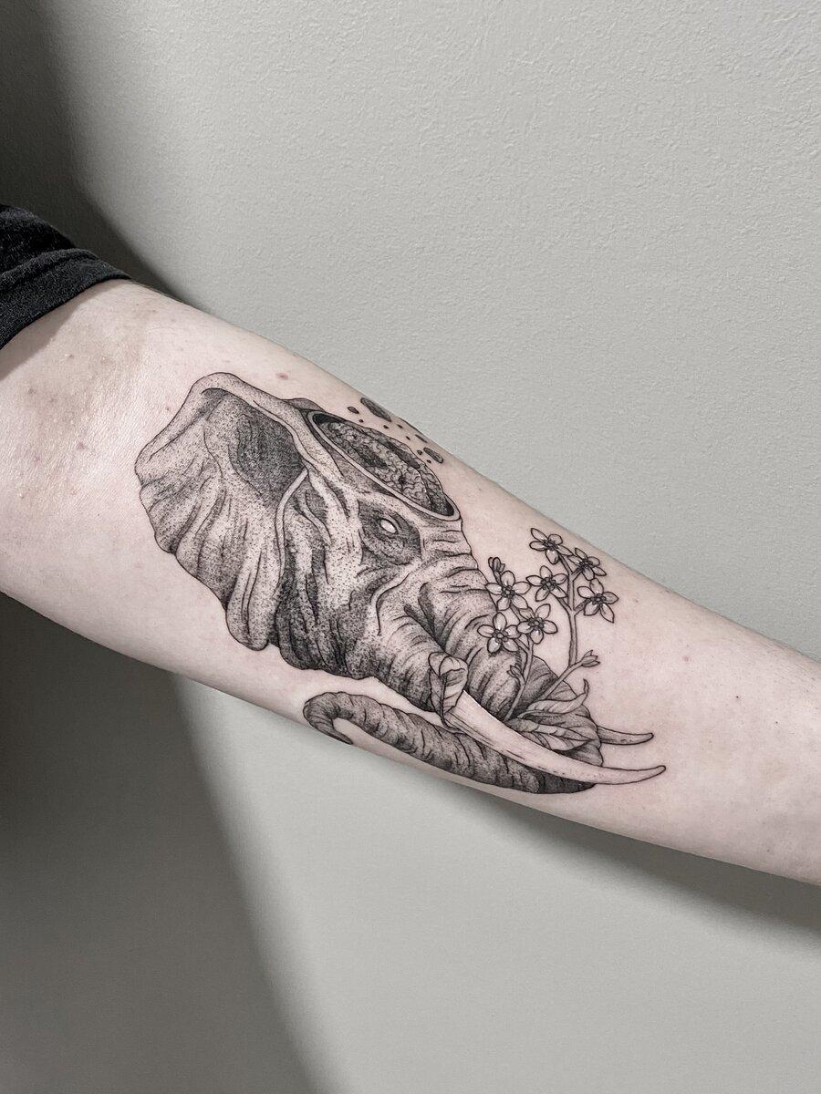 jordan smith tattoo artist elephant black and grey