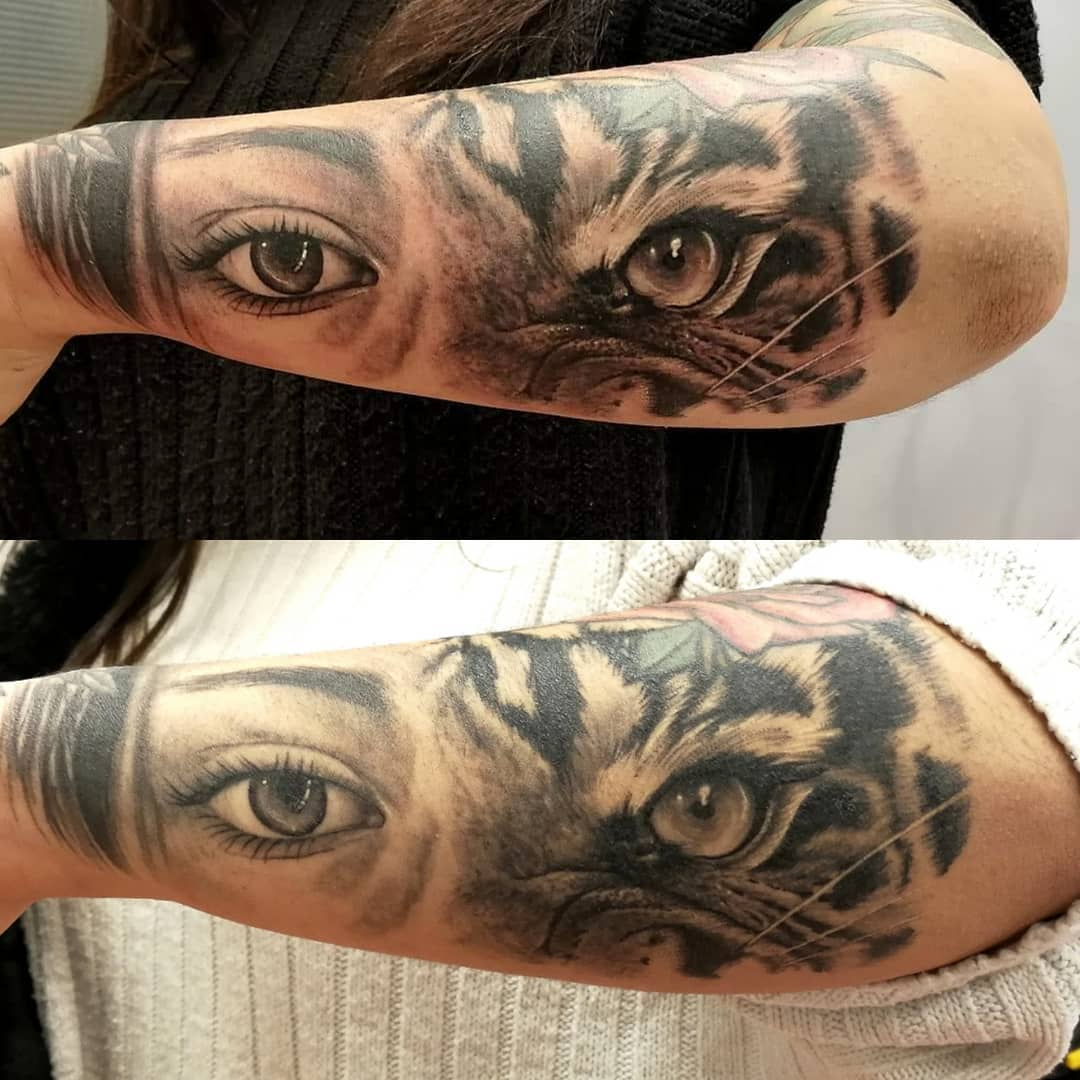 tattoo-aftercare-tiger-healed-fresh