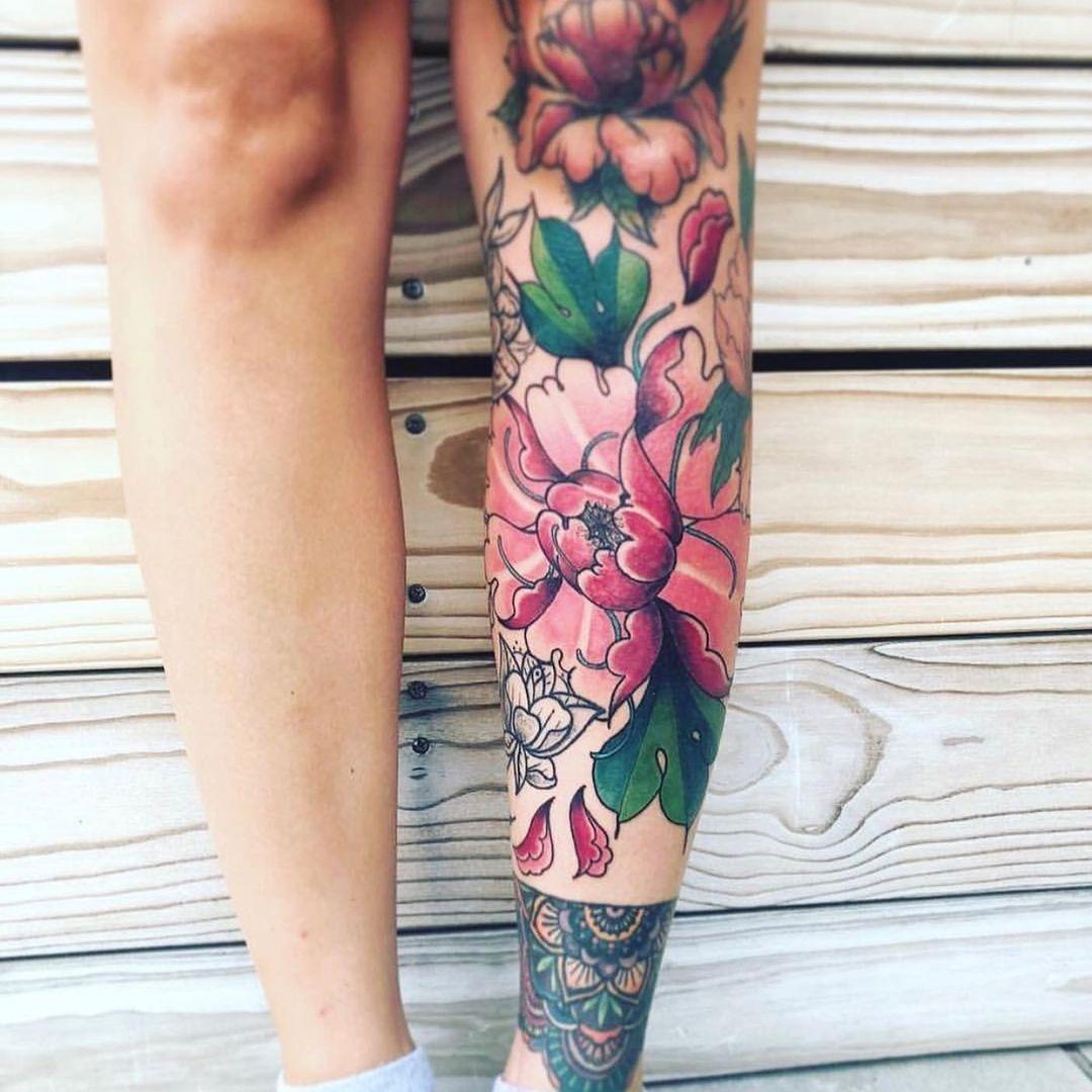bianca-uyttenhoven-johannesburg-tattoo-artist-leg-sleeve