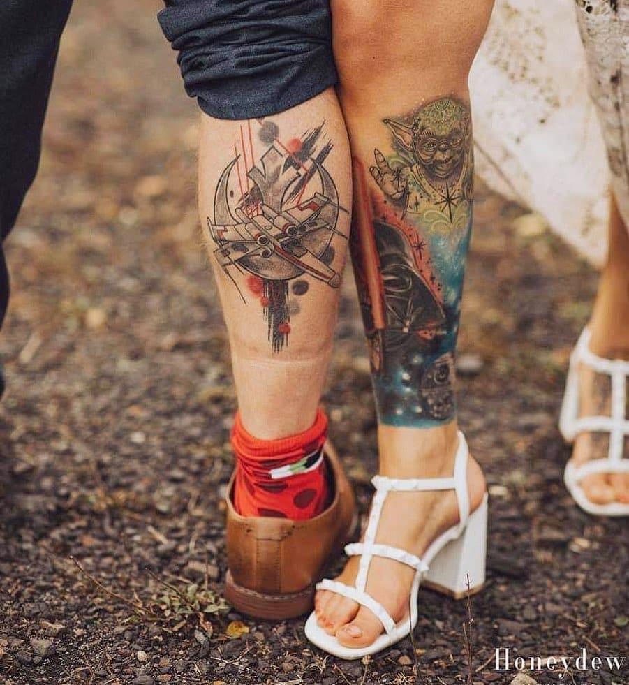 kylie talbot tattoo artist newport 2 tattoos leg