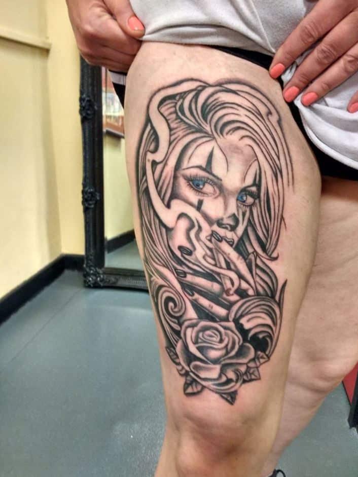 meg-cherrybom-tattoo-cardiff-woman-portrait