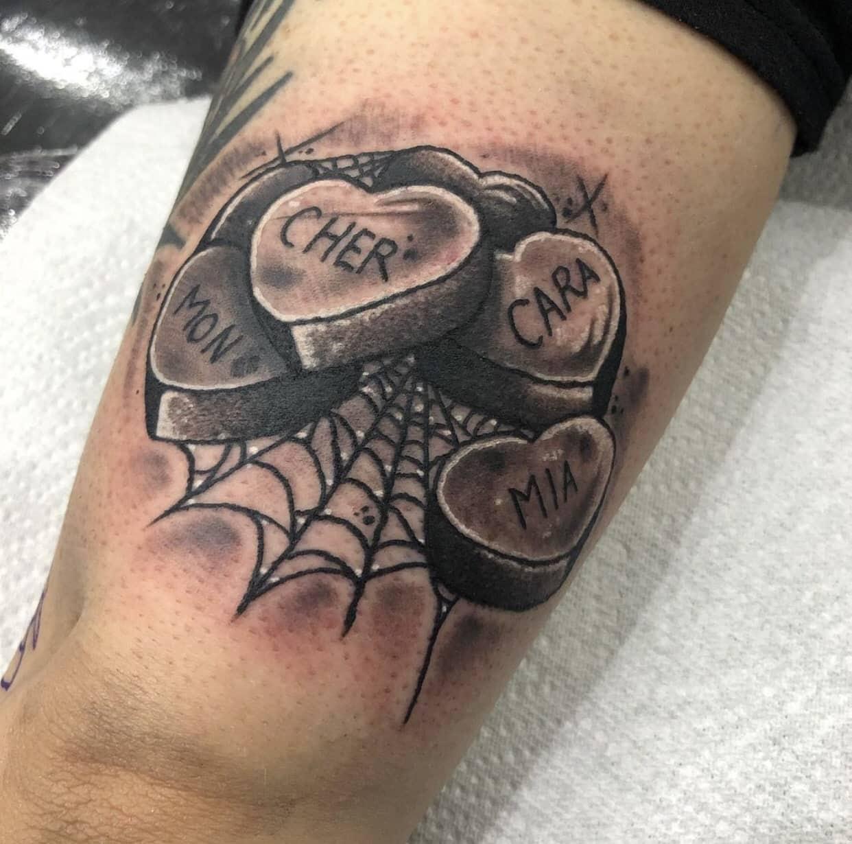 lowri elizabeth rogers cardiff tattoo artist hearts spider web