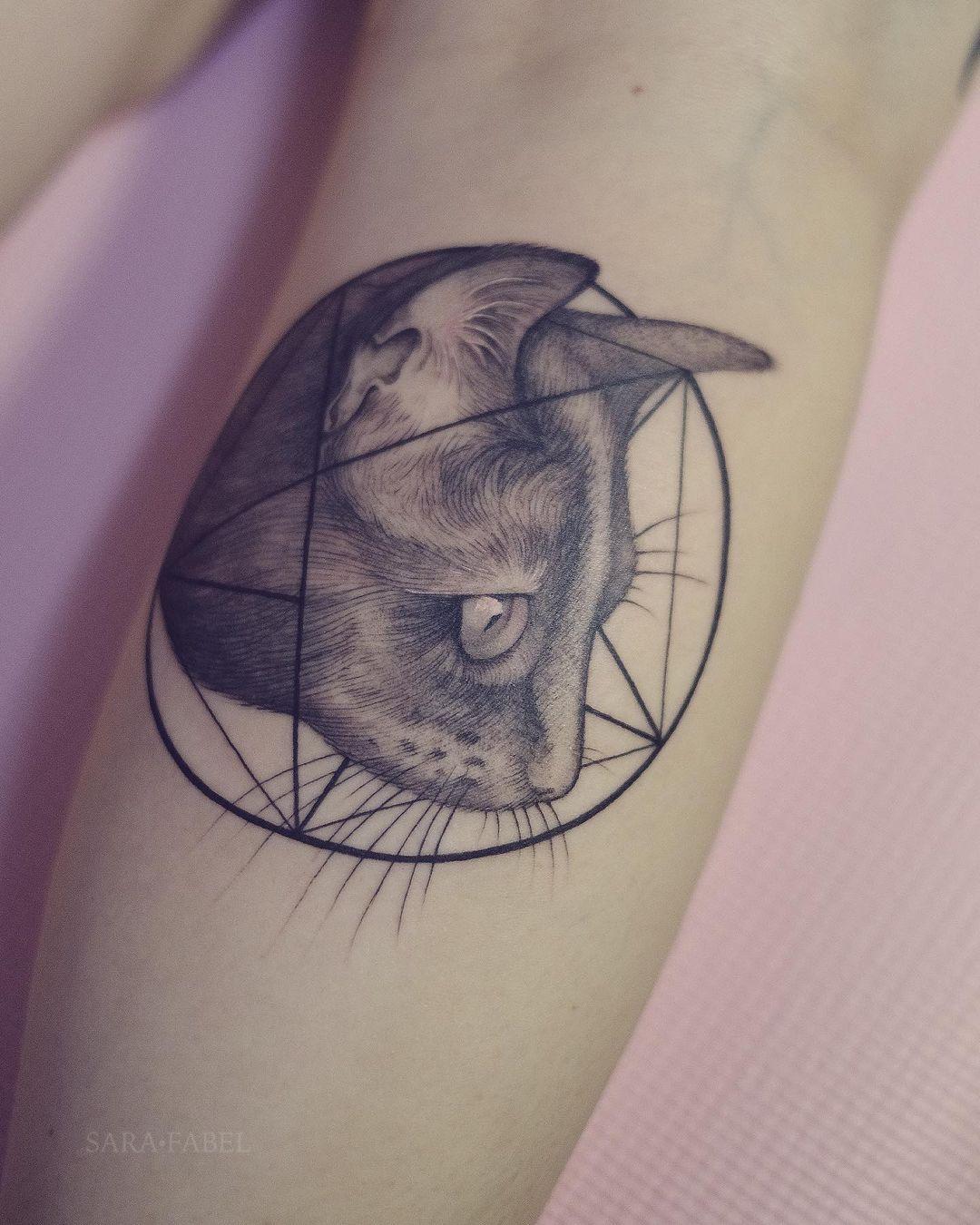 sara fabel tattoo artist black cat