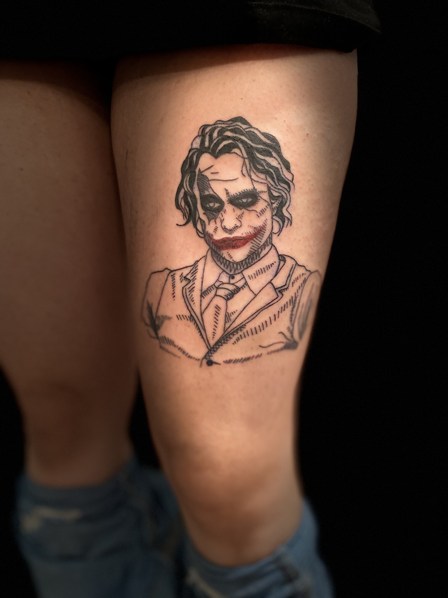 kristal haze tattoo artist joker leg