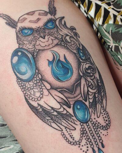 owl-tattoo-illustration-blue-diana-raduta
